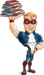 Superhero with Mask Cartoon Vector Character AKA Buff Jaxon - Books 3