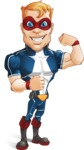 Superhero with Mask Cartoon Vector Character AKA Buff Jaxon - Super Strong