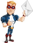 Superhero with Mask Cartoon Vector Character AKA Buff Jaxon - Letter 2
