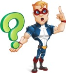 Superhero with Mask Cartoon Vector Character AKA Buff Jaxon - Question