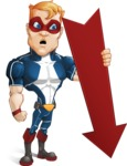 Superhero with Mask Cartoon Vector Character AKA Buff Jaxon - Arrow 3