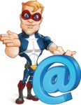 Superhero with Mask Cartoon Vector Character AKA Buff Jaxon - Email