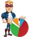 Superhero with Mask Cartoon Vector Character AKA Buff Jaxon - Chart
