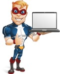 Superhero with Mask Cartoon Vector Character AKA Buff Jaxon - Notebook 2