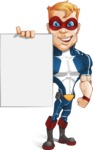 Superhero with Mask Cartoon Vector Character AKA Buff Jaxon - Presentation 2
