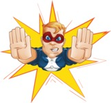 Superhero with Mask Cartoon Vector Character AKA Buff Jaxon - Shape 1