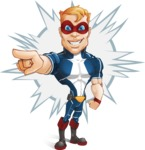 Superhero with Mask Cartoon Vector Character AKA Buff Jaxon - Shape 4