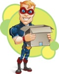 Superhero with Mask Cartoon Vector Character AKA Buff Jaxon - Shape 6