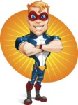 Superhero with Mask Cartoon Vector Character AKA Buff Jaxon - Shape 7