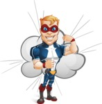 Superhero with Mask Cartoon Vector Character AKA Buff Jaxon - Shape 9