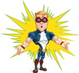 Superhero with Mask Cartoon Vector Character AKA Buff Jaxon - Shape 10