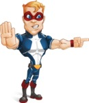 Superhero with Mask Cartoon Vector Character AKA Buff Jaxon - Angry 2