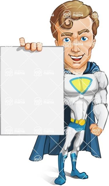Hero with a Cape Cartoon Vector Character AKA Johnny Colossal - Presentation2