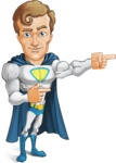 Hero with a Cape Cartoon Vector Character AKA Johnny Colossal - Point2