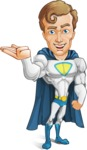 Hero with a Cape Cartoon Vector Character AKA Johnny Colossal - Show