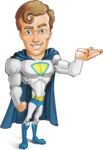 Hero with a Cape Cartoon Vector Character AKA Johnny Colossal - Show2