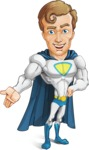 Hero with a Cape Cartoon Vector Character AKA Johnny Colossal - Show3