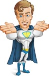 Hero with a Cape Cartoon Vector Character AKA Johnny Colossal - Show6