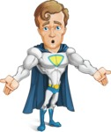 Hero with a Cape Cartoon Vector Character AKA Johnny Colossal - Lost