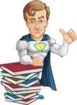 Hero with a Cape Cartoon Vector Character AKA Johnny Colossal - Books