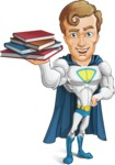Hero with a Cape Cartoon Vector Character AKA Johnny Colossal - Books2