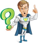 Hero with a Cape Cartoon Vector Character AKA Johnny Colossal - Question