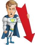 Hero with a Cape Cartoon Vector Character AKA Johnny Colossal - Arrow3