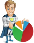 Hero with a Cape Cartoon Vector Character AKA Johnny Colossal - Chart