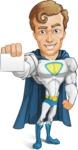 Hero with a Cape Cartoon Vector Character AKA Johnny Colossal - Presentation1