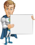 Hero with a Cape Cartoon Vector Character AKA Johnny Colossal - Presentation3