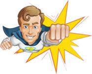 Hero with a Cape Cartoon Vector Character AKA Johnny Colossal - Shape 1
