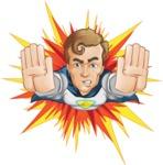 Hero with a Cape Cartoon Vector Character AKA Johnny Colossal - Shape 3