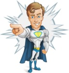 Hero with a Cape Cartoon Vector Character AKA Johnny Colossal - Shape 4