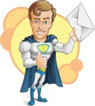 Hero with a Cape Cartoon Vector Character AKA Johnny Colossal - Shape 6