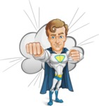 Hero with a Cape Cartoon Vector Character AKA Johnny Colossal - Shape 10