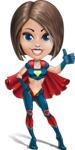 Cute Superhero Girl Cartoon Vector Character AKA Gamma Rey - Normal