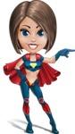 Cute Superhero Girl Cartoon Vector Character AKA Gamma Rey - Point 1