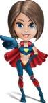 Cute Superhero Girl Cartoon Vector Character AKA Gamma Rey - Point 3
