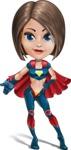 Cute Superhero Girl Cartoon Vector Character AKA Gamma Rey - Show 3