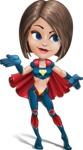 Cute Superhero Girl Cartoon Vector Character AKA Gamma Rey - Show 4