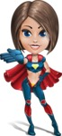 Cute Superhero Girl Cartoon Vector Character AKA Gamma Rey - Show 5