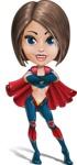 Cute Superhero Girl Cartoon Vector Character AKA Gamma Rey - Confident 2