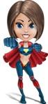 Cute Superhero Girl Cartoon Vector Character AKA Gamma Rey - Punch