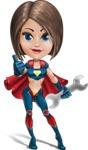 Cute Superhero Girl Cartoon Vector Character AKA Gamma Rey - Repair