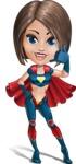 Cute Superhero Girl Cartoon Vector Character AKA Gamma Rey - Support