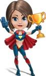 Cute Superhero Girl Cartoon Vector Character AKA Gamma Rey - Winner