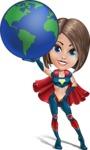 Cute Superhero Girl Cartoon Vector Character AKA Gamma Rey - Earth