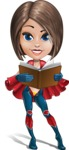 Cute Superhero Girl Cartoon Vector Character AKA Gamma Rey - Book