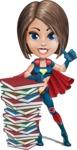 Cute Superhero Girl Cartoon Vector Character AKA Gamma Rey - Books 1