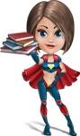 Cute Superhero Girl Cartoon Vector Character AKA Gamma Rey - Books 2